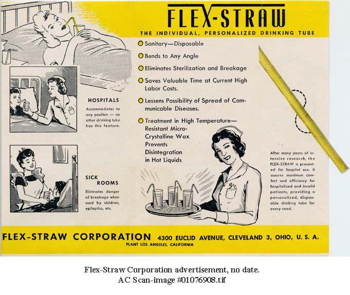 Advertentie van de flex-straw. In het transcript beschrijven we wat erop staat